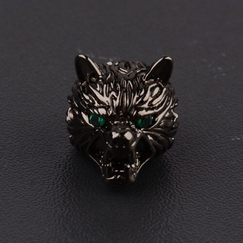 Hand-made Bracelets Cubic Zirconia Wolf Head Vision Fashion Charm Connector Bead
