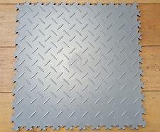 Premium graue Diamond PVC-Werkstatt-Garagen-Boden-Fliesen KLICK-Verlegung
