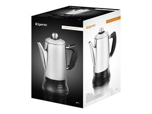 Elgento E011 Stainless Steel Cordless Electric Coffee Percolator Silver 18l
