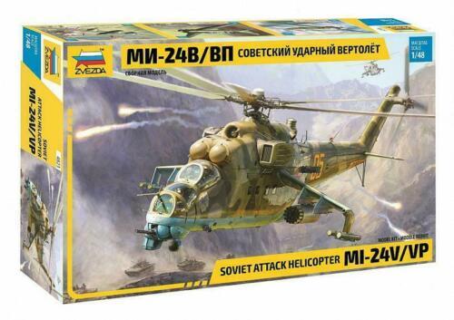 1:48 Zvezda #4823 Soviet Attack Helicopter Mi-24 V//VP  NEW 2020 !!!