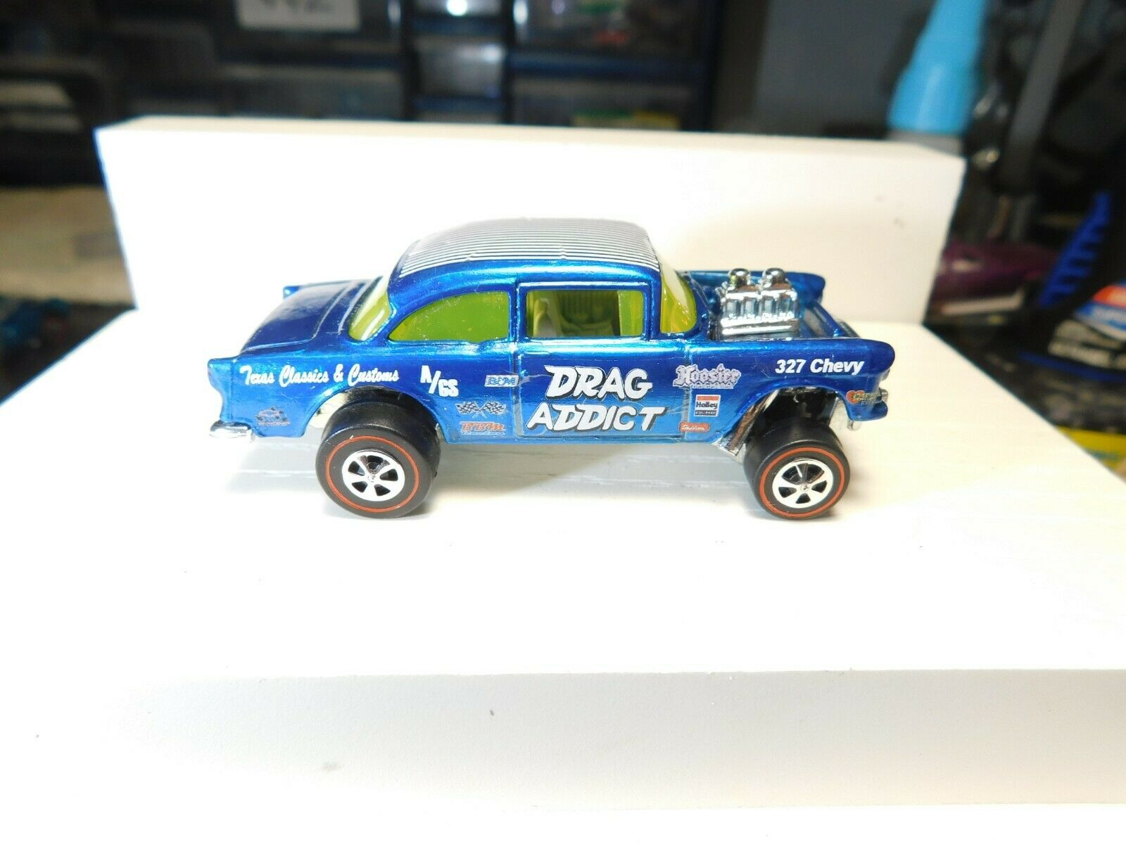 55 Chevy Bel Air Gasser Hot Wheels Redline Resto-Converted Drag Addict
