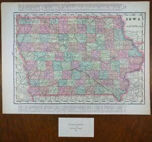 IOWA-1900-Vintage-Atlas-Map-14-034-x11-034-Old-Antique-ALTOONA-CLIVE-NEWTON-BOONE