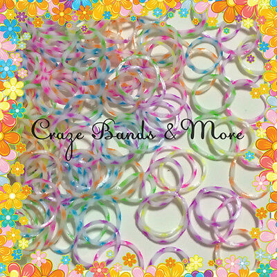 NEW Style High QUALITY Flower Snow Flake Rubber Band fit any Loom Craft S-Clip