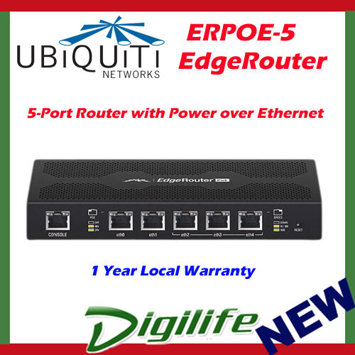 Ubiquiti Networks EdgeRouter Erpoe-5 5 Port Poe Gigabit Router