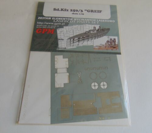 1583 pièces Laser Track Link Sd.Kfz.250//3 Greif 1//25 échelle complète de l/'intérieur