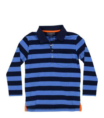 NWT Boy/'s Toobydoo Blue Long Sleeve Striped Polo Shirt $46 Choose Size