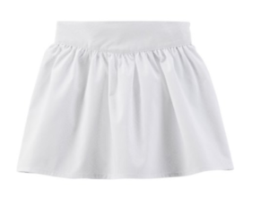 Girls' Clothing (newborn-5t) Professional Sale New Child Of Mine By Carter's Girls' White Skirt Color White Size 6x-7