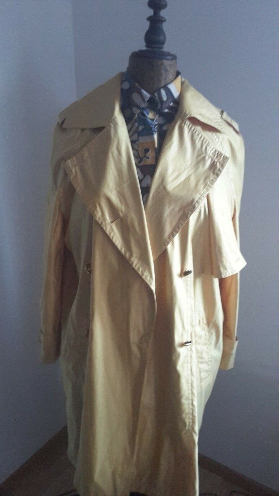 ESCADA by Margaretha Ley LUXUS Trench Mantel herrentel Gold gituttio Gr. 38 40 NEUw