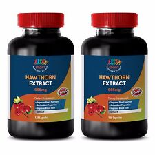 Hawthorn Berry Powder - HAWTHORN 665MG EXTRACT - Contains Capsaicin - 2Bot 120Ct