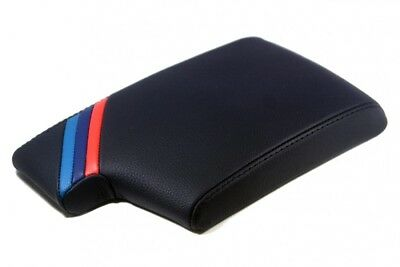 Center Console Armrest Real Leather Cover BWM E90 For 05-13 M Type Stripes