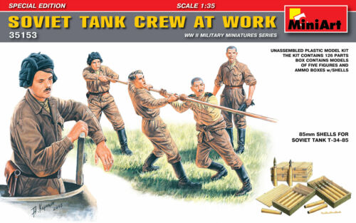 Miniart 35153-1:35 Soviet Tank Crew at Work Special Edition