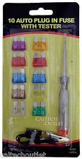 10 Piece Auto Motive Fuse kit & Tester Color Coded Fuse