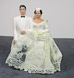 Wedding Bride Groom Hand Painted Plaster Full Lace Skirt Veil