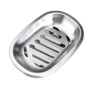 Large-Modernist-Soap-Dish-Germany-Holder-Stainless-Steel-High-Quality