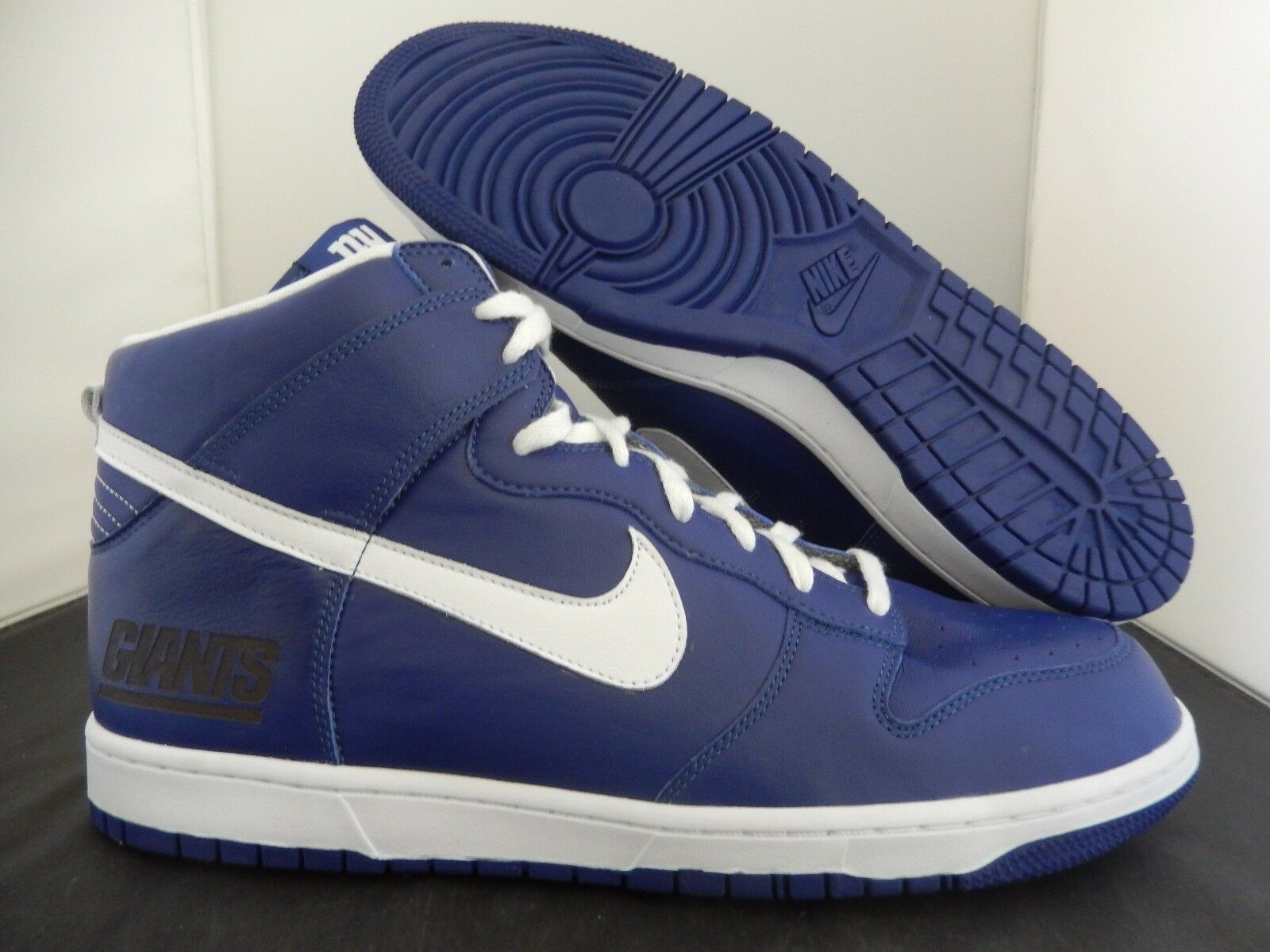 NIKE DUNK HIGH iD NFL NY NEW YORK GIANTS SZ 15