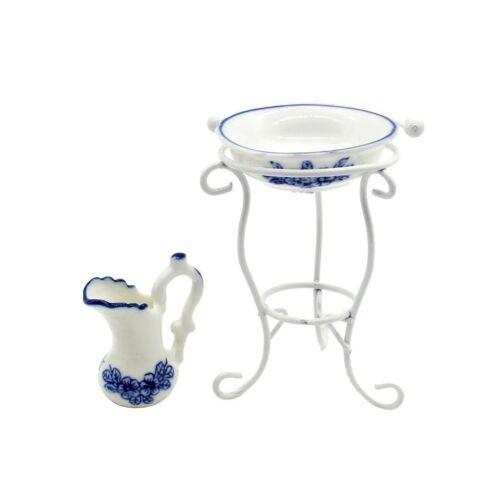 N 9646 Casa delle bambole accessori mobili miniature Decorazione bacinella con brocca