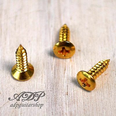 12 VIS PICKGUARD screws Tele Bass GOLD Dorées Strat