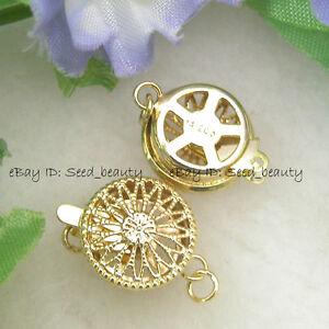 5pcs-gp0277-1-strand-Filigree-Yellow-Gold-Plated-Box-Sunflower-Clasp-12mm
