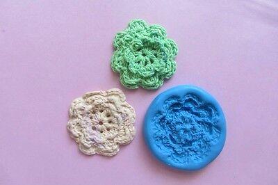 CROCHET LAYERED FLOWER Mould Cupcakes Sugarcraft Fondant Cake Topper  Fimo