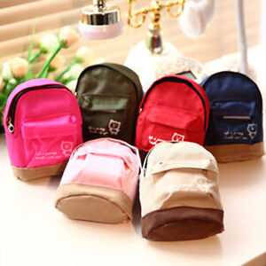 21f7703e373 Details about Mini Small Cute Women Lady Girl Pouch Coin Purse Backpack  Canvas Bag Wallet SP