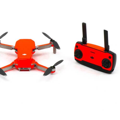 Neon Fluoro Orange Drone Skin Wrap Stickers Decal Sticker DJI Mavic Mini
