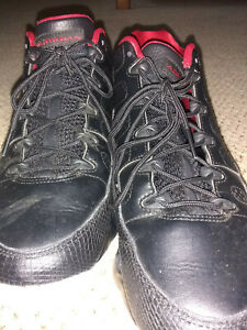 info for c4021 40d92 Details about Nike Air Jordan Retro 9 IX Low Black & White & Red Bred Sz  10.5