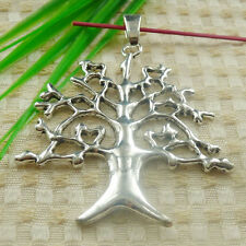 71x56mm Free Ship 4pcs tibetan silver round tree charms pendant S4681