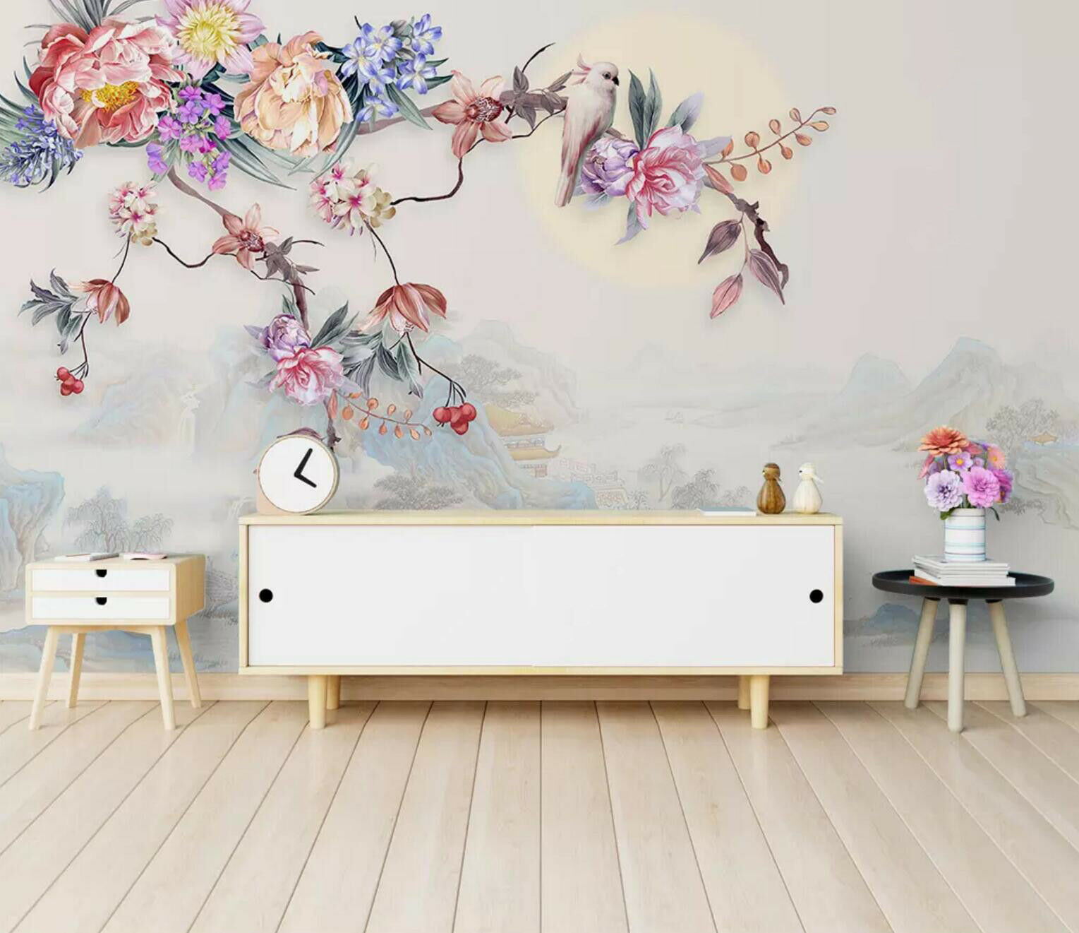 3D Parrot Fragrance 8 Wall Paper Exclusive MXY Wallpaper Mural Decal Indoor Wall