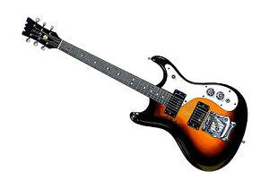 100% Vrai Kurt Cobain's Mosrite Gospel Mkiv Guitare Affiche A1 Taille Clair Et Distinctif