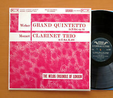 SOL 60020 Weber Clarinet Quintet Mozart Trio Melos Ensemble L'Oiseau-Lyre Stereo