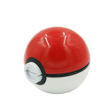 55mm 3 Layer Zinc Alloy Pokeball Pokemon Tobacco Mil Spice Herb Grinder Gift SWT