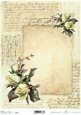 Vintage Frame Flourish A4 ITD R504 Rice Paper for Decoupage Scrapbooking