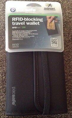 Pac Safe RFID Blocking Travel Wallet RFID Tec 250 Black, NEW