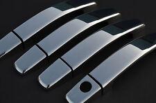 CHROME DOOR HANDLE TRIM SET COVERS STEEL FOR VAUXHALL OPEL CORSA D - 4 HANDLES