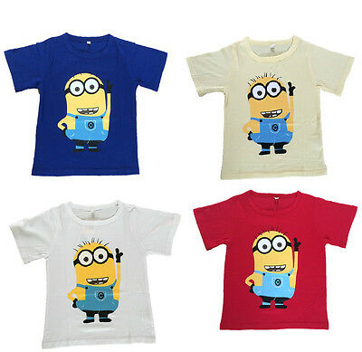 Boys Girls Childs Childrens Kids Despicable Me Minions TShirt Tee Top Minion