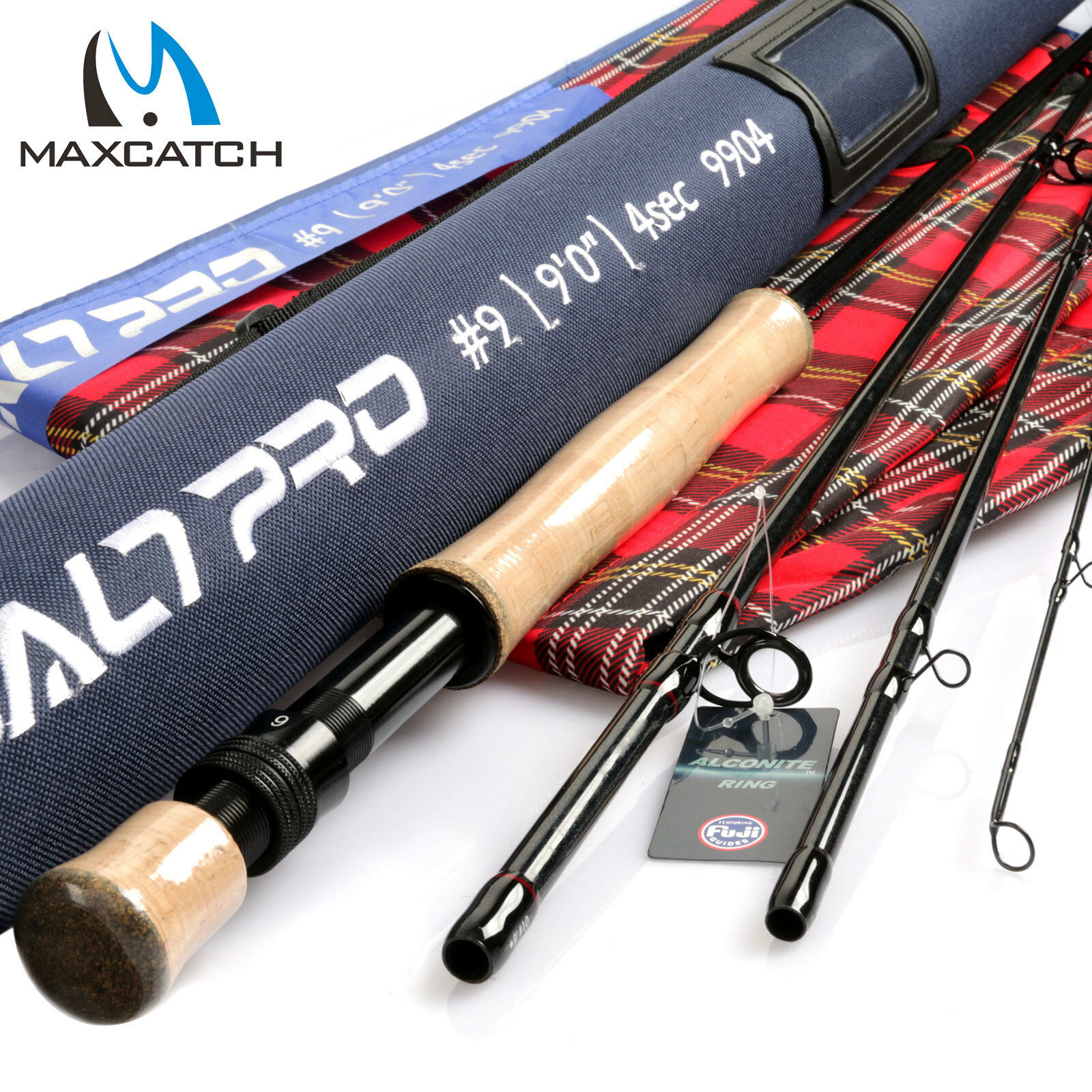 Maxcatch Saltwater Rod 8 9 10wt 9ft Graphite IM10 Fast Action Fly Fishing & Tube