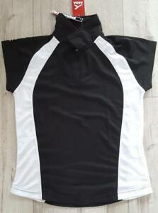 Akoa-Black-amp-White-Girls-Secto-Polo-Shirt-14-Years-XS-New-With-Tag-55