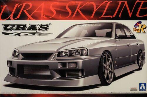 Nissan Skyline ER34 Uras 1:24 Model Kit Bausatz Aoshima 000205 Tuning