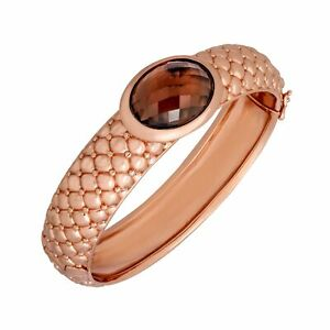13-ct-Smoky-Quartz-Bangle-Bracelet-in-18K-Rose-Gold-Plated-Bronze
