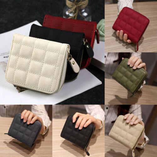 Women Mini Wallet Zipper Card Holder Coin Purse Small Leather Clutch Bag Handbag