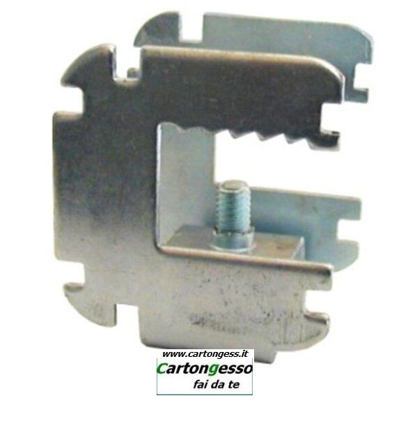 Morsetto in acciaio regolabile con triplo attacco