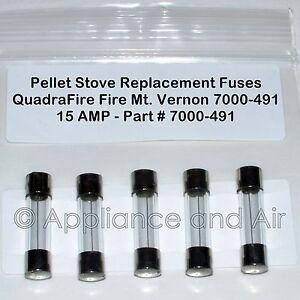 s l300 5 quadra fire mt vernon 7000 491 pellet stove fuses 15a free ship