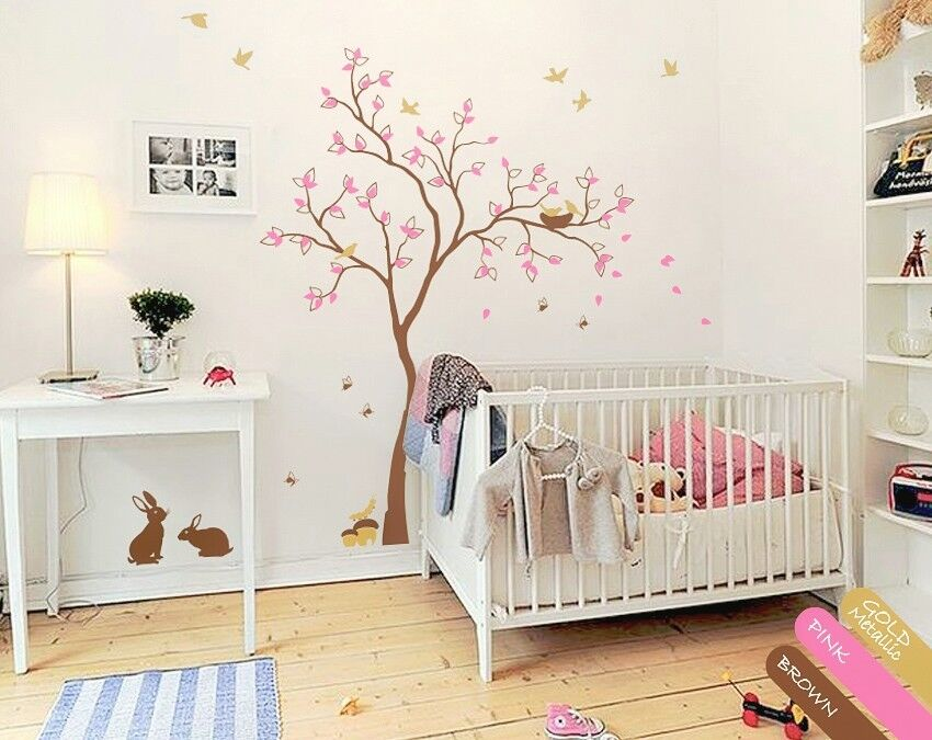 Nursery Wall Decal Decor Unisex Baby Room Decals Multicolored Wall Decals Kr074 Ebay