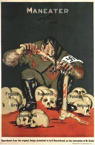 World War Two British Anti German Propaganda Poster A3//A2 Print