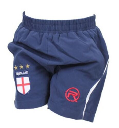 NEW BOYS KIDS CHILDRENS ENGLAND FOOTBALL SHORTS  WORLD CUP 2014 NAVY WHITE