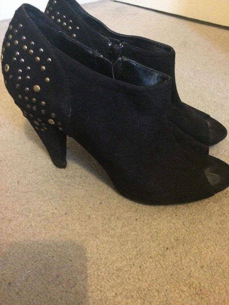 Studded Peep Toe 6 Suede Shoe Boots Size 6 Toe Dorothy Perkins 50deb8