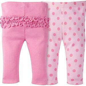 GERBER Baby Girls 2 Pack Leggings