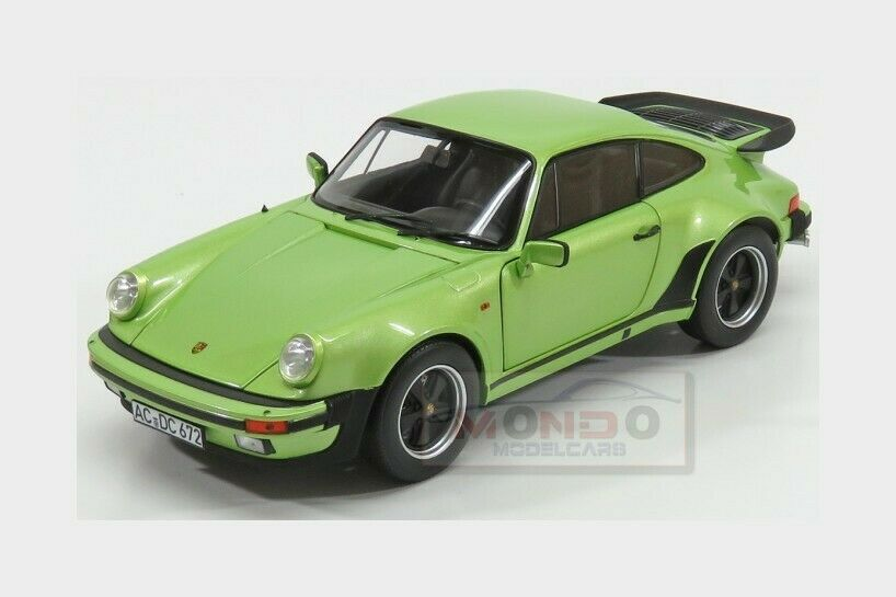 Porsche 911 901 Turbo Coupe 1978 Silver Green Met NOREV 1 18 NV187577 Model
