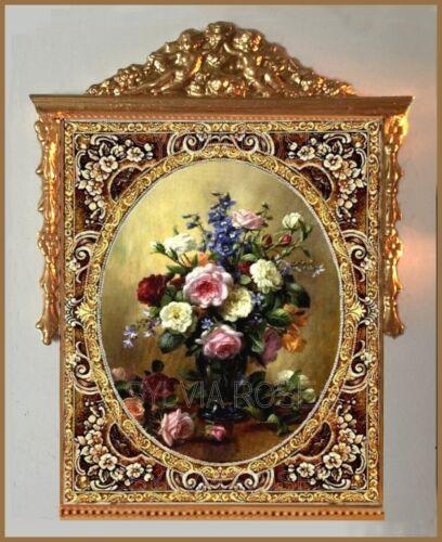 Tapiz//oro Querubín Floral Colgante De Pared-Casa De Muñecas//Sala Caja//imagen.NO.1