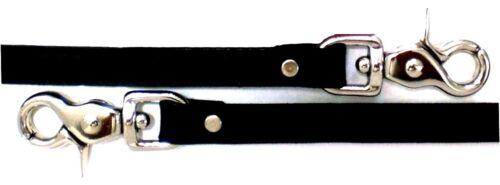 """USA 1//2/"""" Black SMOOTH Genuine Leather TRIGGER Snap Shoulder Strap Bag Strap"""